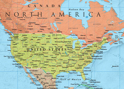RMC WORLD MAP Poster Signature Series Large Wall Map - Rand ...