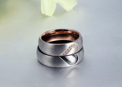 Coppia fedine acciaio oro satinate argento brillantini personalizzabili incision