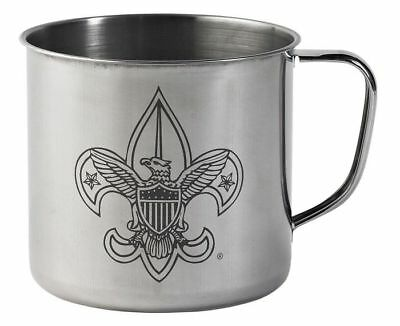 Boy Scout Cub Girl BSA Vintage Style Stainless Steel Cup 28 Ounce Soup Cereal 9