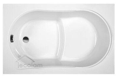 Badewanne Wanne  Emaille-Badewanne 105x65 cm eingebaut weiß