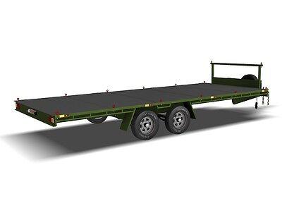 Trailer Plans- 6m FLAT TOP TRAILER PLANS- PRINTED HARDCOPY- Car Trailer, Flatbed 6
