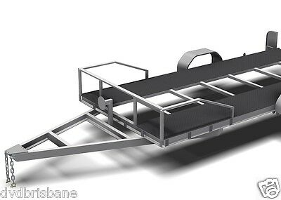 Trailer Plans - 2200kg SINGLE AXLE FLATBED CAR TRAILER PLANS - PRINTED HARDCOPY 11