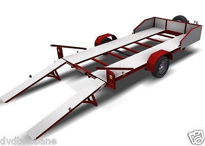 Trailer Plans - 2200kg SINGLE AXLE FLATBED CAR TRAILER PLANS - PRINTED HARDCOPY 2