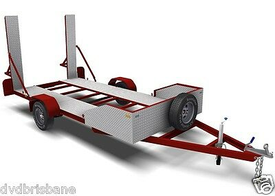 Trailer Plans - 2200kg SINGLE AXLE FLATBED CAR TRAILER PLANS - PRINTED HARDCOPY 3