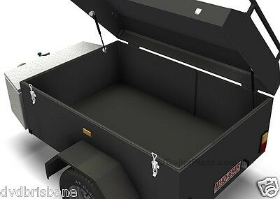 Trailer Plans - ENCLOSED LUGGAGE TRAILER - PLANS ON CD-ROM - Trailer Build 3
