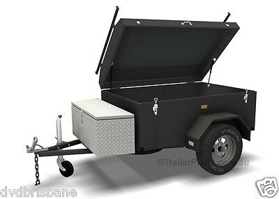 Trailer Plans - ENCLOSED LUGGAGE TRAILER - PLANS ON CD-ROM - Trailer Build 2