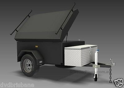 Trailer Plans - ENCLOSED LUGGAGE TRAILER - PLANS ON CD-ROM - Trailer Build 5