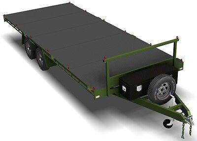 Trailer Plans- 6m FLAT TOP TRAILER PLANS- PRINTED HARDCOPY- Car Trailer, Flatbed 9