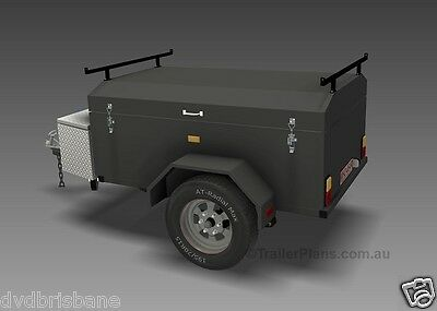 Trailer Plans - ENCLOSED LUGGAGE TRAILER - PLANS ON CD-ROM - Trailer Build 9