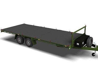 Trailer Plans- 6m FLAT TOP TRAILER PLANS- PRINTED HARDCOPY- Car Trailer, Flatbed 4
