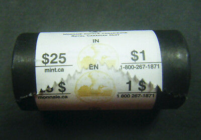 2006 Canada Olympic Lucky Loonie Roll $1 coin One Dollar Canadian 25 coins