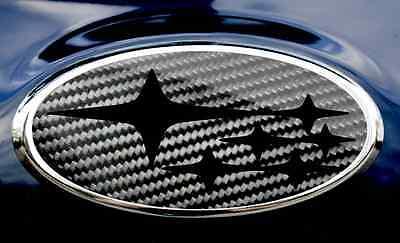 Subaru Wrx Sti Badge Emblem Overlays Carbon Fiber Blackout Edition