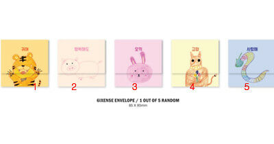 AB6IX 6IXENSE Authentic PHOTO CARD BOOKMARK ENVELOPE PHOTOCARD kpop KOR SELLER 12