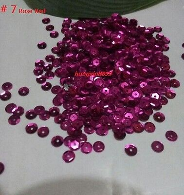 HOT DIY 2000 pcs Oval Round Cup Sequins Paillettes Loose AB 6mm Wedding Craft 4