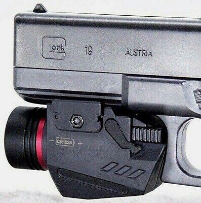 Combo Pistol LED Flashlight Red Laser Sight Fits 20mm Rail Pistol-Rifle 9