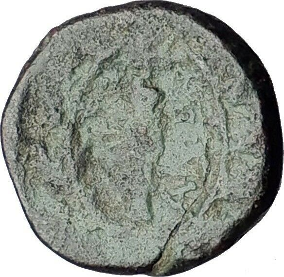 SARDES in LYDIA 133BC Apollo Club Wreath Authentic Ancient Greek Coin i60525 2