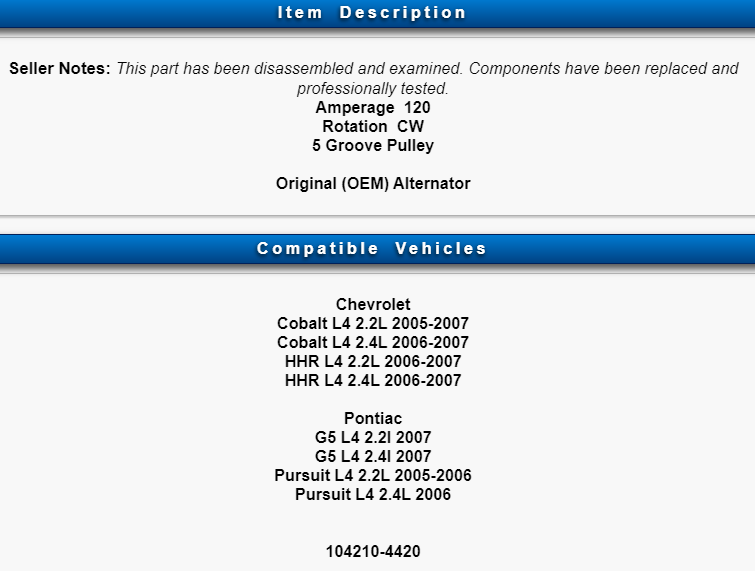 Alternators & Generators Automotive informafutbol.com 2006-2007 ...