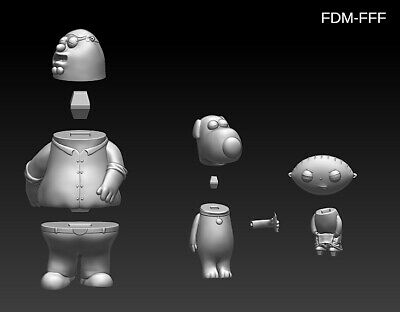 Family Guy (Griffin) File STL-OBJ for 3D Printing FDM-FFF DLP-SLA-SLS 9