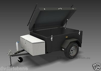 Trailer Plans - ENCLOSED LUGGAGE TRAILER - PLANS ON CD-ROM - Trailer Build 7