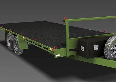 Trailer Plans- 6m FLAT TOP TRAILER PLANS- PRINTED HARDCOPY- Car Trailer, Flatbed 5