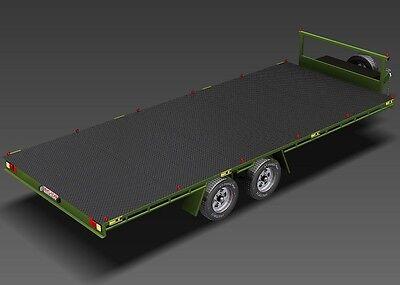 Trailer Plans- 6m FLAT TOP TRAILER PLANS- PRINTED HARDCOPY- Car Trailer, Flatbed 8