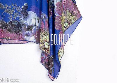 Uk Ladies Summer Chiffon Tunic Top Batwing Oversize Blose Shirt Size 16 18 20 22 11