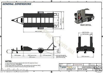 Trailer Plans - 2200kg SINGLE AXLE FLATBED CAR TRAILER PLANS - PRINTED HARDCOPY 10
