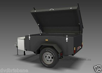 Trailer Plans - ENCLOSED LUGGAGE TRAILER - PLANS ON CD-ROM - Trailer Build 6