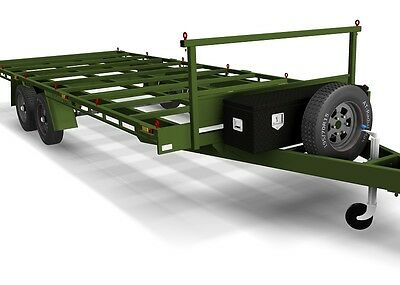 Trailer Plans - 6m FLAT TOP TRAILER PLANS - PLANS ON CD-ROM -Flatbed,Car Trailer 11