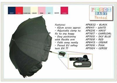 New Baby Pesci Universal Sun Rain Umbrella Pram Pushchair Canopy Parasol Shade 2