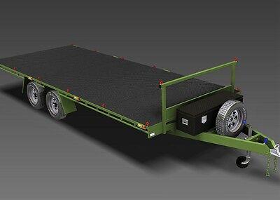 Trailer Plans- 6m FLAT TOP TRAILER PLANS- PRINTED HARDCOPY- Car Trailer, Flatbed 2