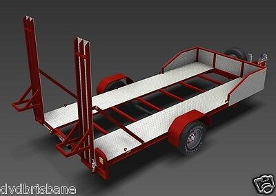 Trailer Plans - 2200kg SINGLE AXLE FLATBED CAR TRAILER PLANS - PRINTED HARDCOPY 6
