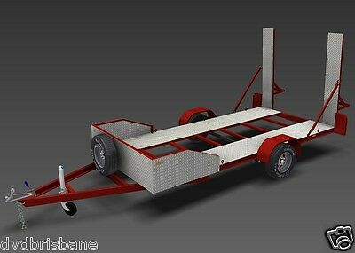 Trailer Plans - 2200kg SINGLE AXLE FLATBED CAR TRAILER PLANS - PRINTED HARDCOPY 5