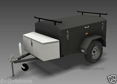 Trailer Plans - ENCLOSED LUGGAGE TRAILER - PLANS ON CD-ROM - Trailer Build 8