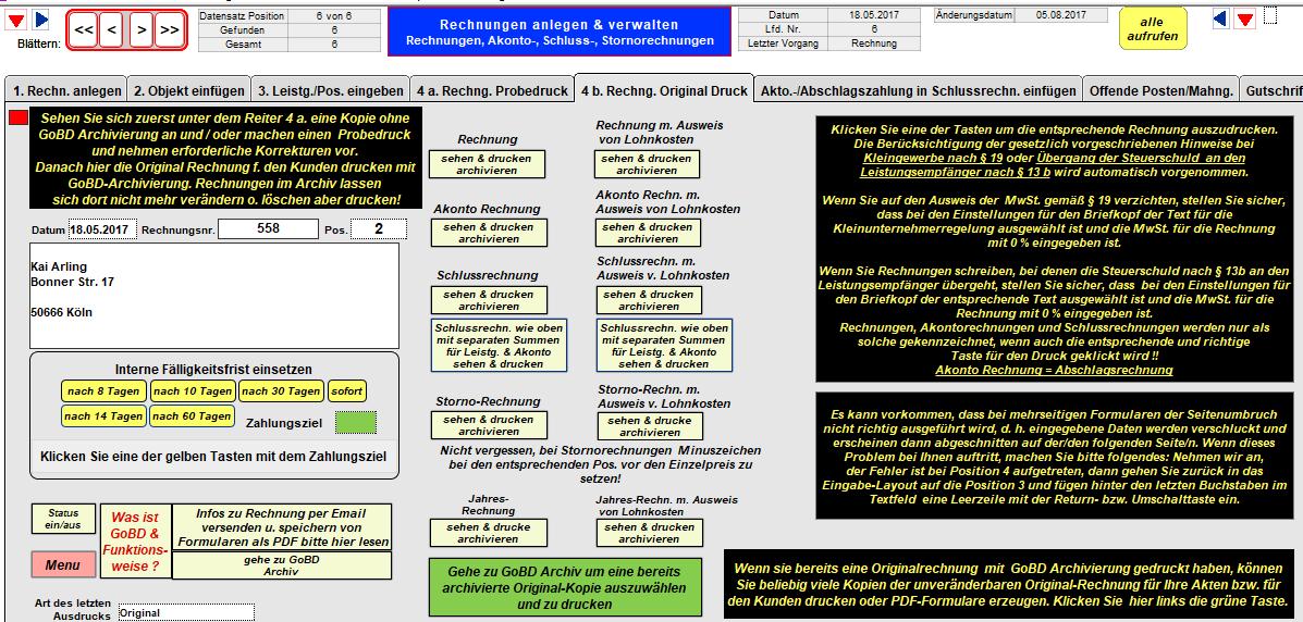 Software Handwerker Xl 7 Rechnungsprogramm Für Alle Handwerker Bau