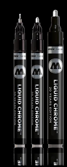 MOLOTOW LIQUID CHROME Pump Marker Einzelstift + Sets 1, 2, 4mm *!bestprice!* 3