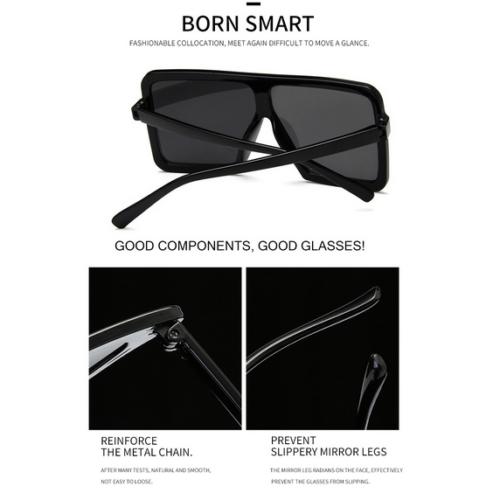 52092e04a Women's Flat Top Large Square Frame Oversize Sunglasses Celebrity Fashion 2  2 of 7 ...