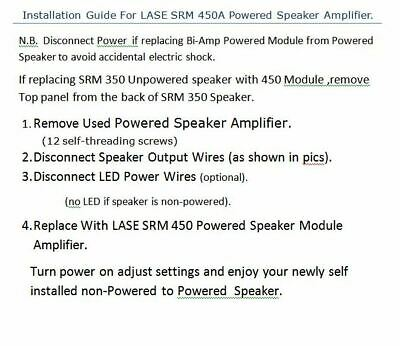Replacement Amplifier Module for Mackie SRM 450 V1 & V2 Powered Speaker w DSP 4