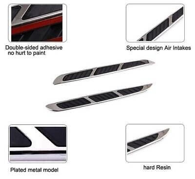 Shark Grilles Car Side Air Flow Fake Vents Modified Fender Decor Sticker #3