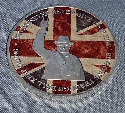 Winston Churchill Gold & Silver Coin Union Jack World War II 1874 1965 I Sir UK 10