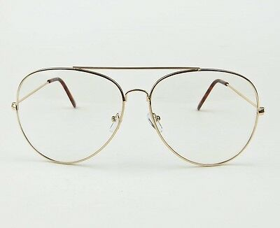 56587c20b9 Sexy Oversized Xl Extra Large Aviator Metal Frames Big Clear