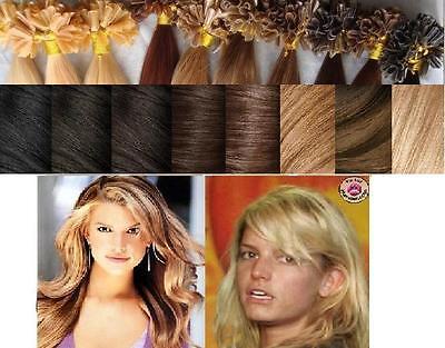 25/50/100...extensions Pose A Chaud Cheveux 100% Naturels Qualite Remy 49 Cm 1 G