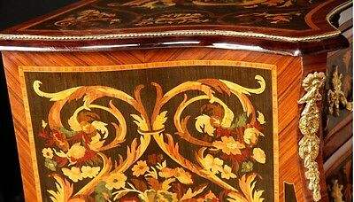 Pair French Empire Cabinets Commodes Chests on Stands Inlay