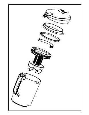 Rowenta serbatoio contenitore aspirapolvere Compact Power RO3731 RO3786 RO3798 2