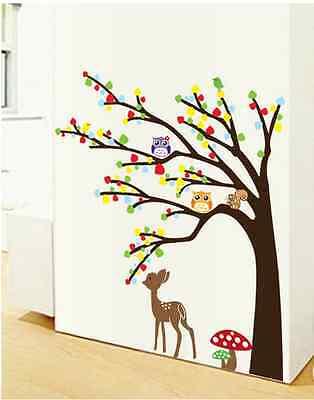 Wandtattoo Wald Sticker Tiere Baum Spielzimmer Bild Kitze Groß Kinderzimmer 47