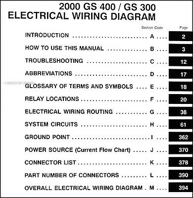 wiring diagram lexus gs430 wiring diagram2000 lexus gs 300 400 electrical wiring diagram manual new original
