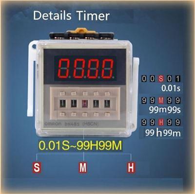 DH48S-1Z Timer 0.01S~99H99M Zeitrelais Digital LED Display 230V OMRON ( H5CN )
