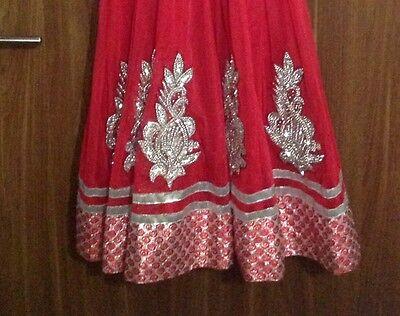 Dress Ladies Churidar Suit Asian Long Churidaar Bollywood Wedding Party Dress 5