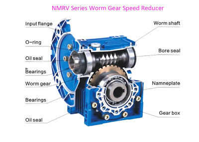 NMRV030 Worm Gear Reducer 56B14 Speed Ratio 10 15 20 25 30 40 50 60 80 100:1 8