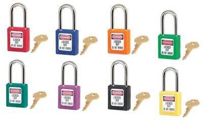 MasterLock 410 Thermoplastic Safety Padlock Lockout (BOX OF 6) | AUTH. DEALER 2